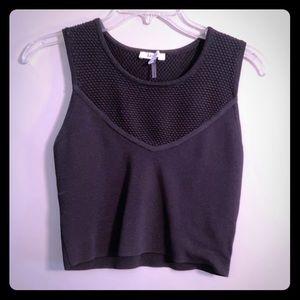 Never worn LUCY PARIS black woven crop top🖤